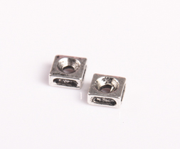 Margele spacer, 3X6 mm, gaura 2 mm, 20 buc